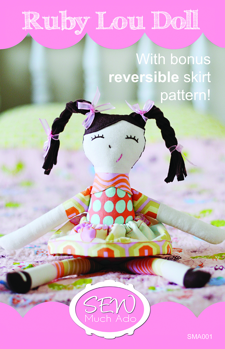 Ruby Lou Doll PDF Pattern