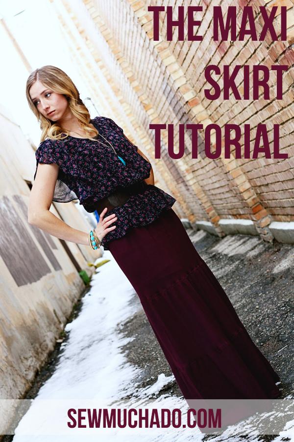 the maxi skirt tutorial