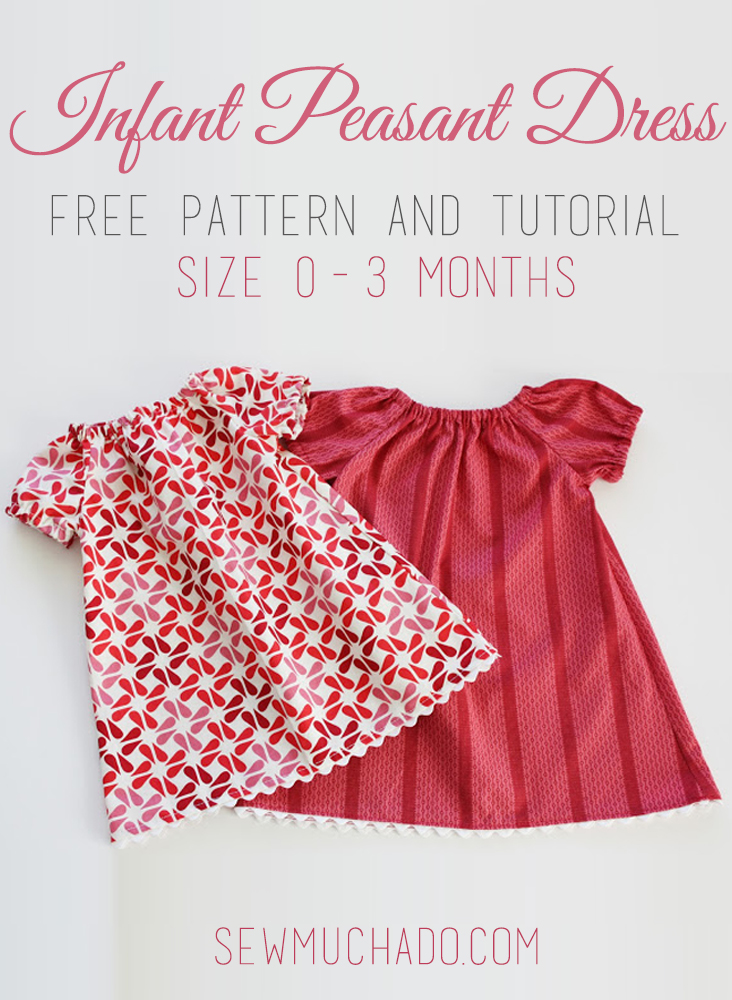 picture about Free Printable Pillowcase Dress Pattern named Baby Peasant Gown No cost Practice