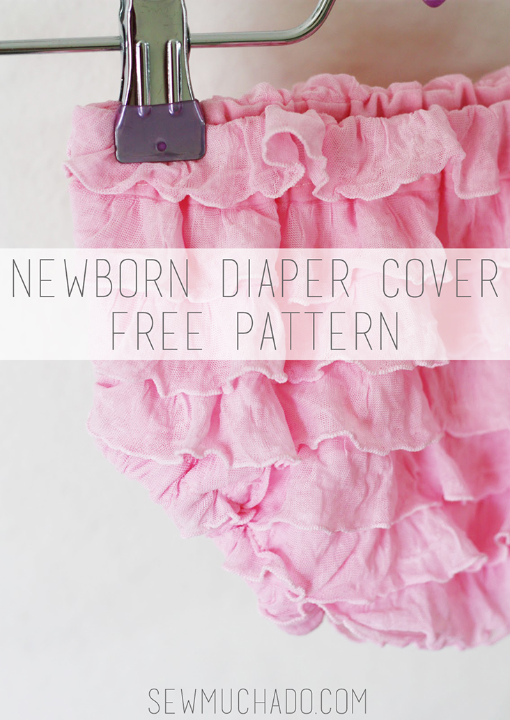 Newborn Ruffle Fabric Diaper Cover Tutorial and Free Pattern - Sew ...