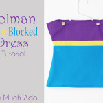 Dolman Color Blocked Dress Tutorial