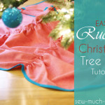 Easy Ruched Christmas Tree Skirt Tutorial