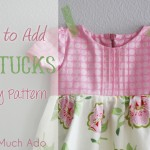 How To Add Pintucks To Any Pattern