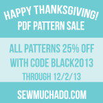 Thanksgiving Weekend Pattern Sale!