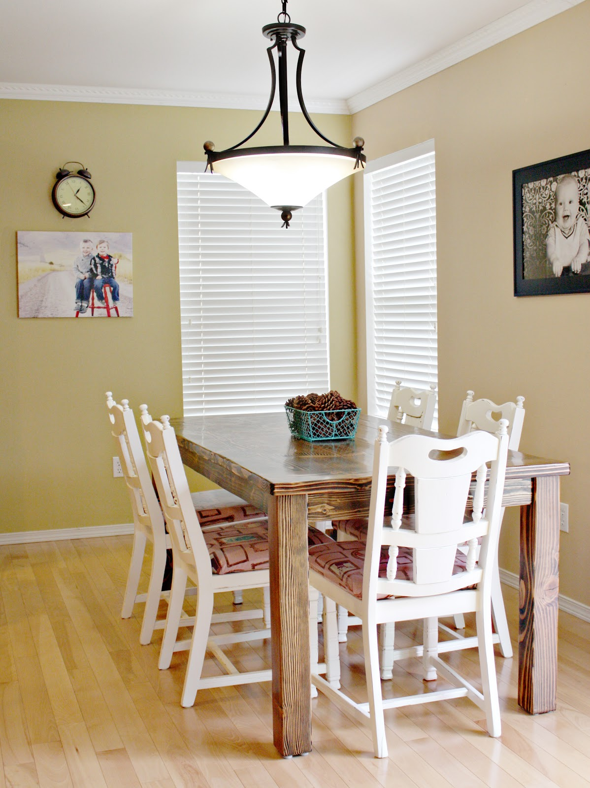 farmhouse dining room table and chairs i also shared a tutorial for