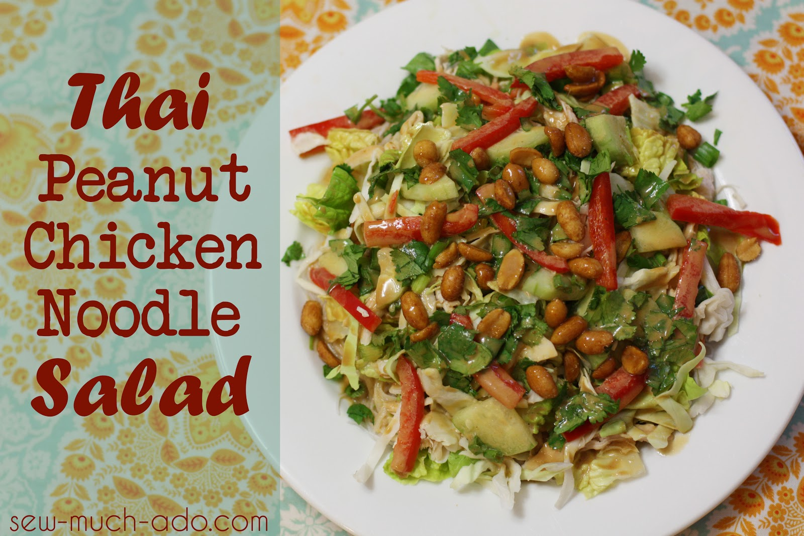 thai peanut chicken chicken noodle salad recipe