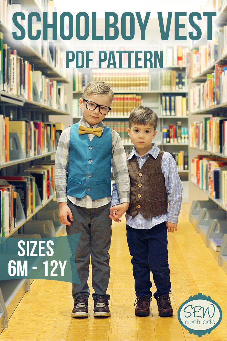 Schoolboy Vest PDF Pattern is Here! - Sew Much Ado