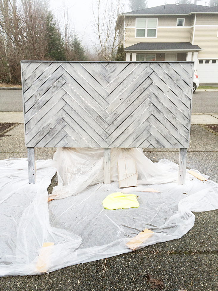 DIY Herringbone Headboard - Sew Much Ado