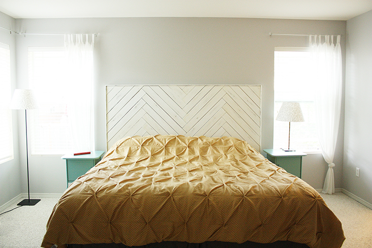 Diy Herringbone Headboard Sew Much Ado