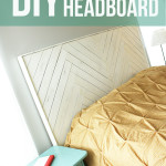diy herringbone headboard