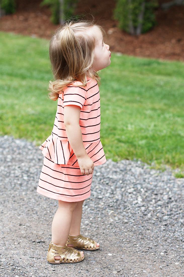 knit peplum dress