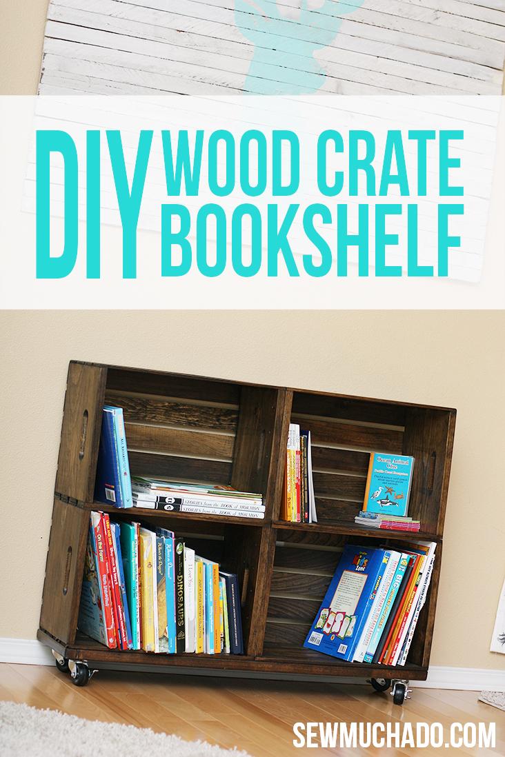 wood crate bookshelf - Crate Bookshelves
