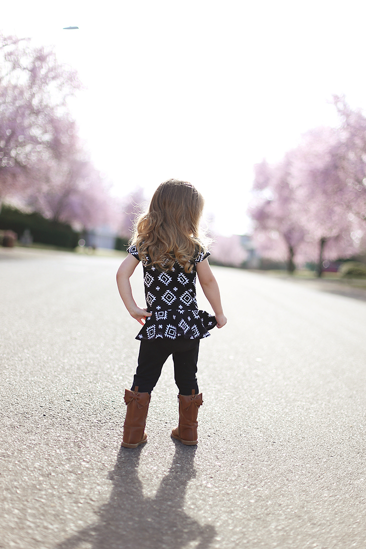 girl's peplum top pattern