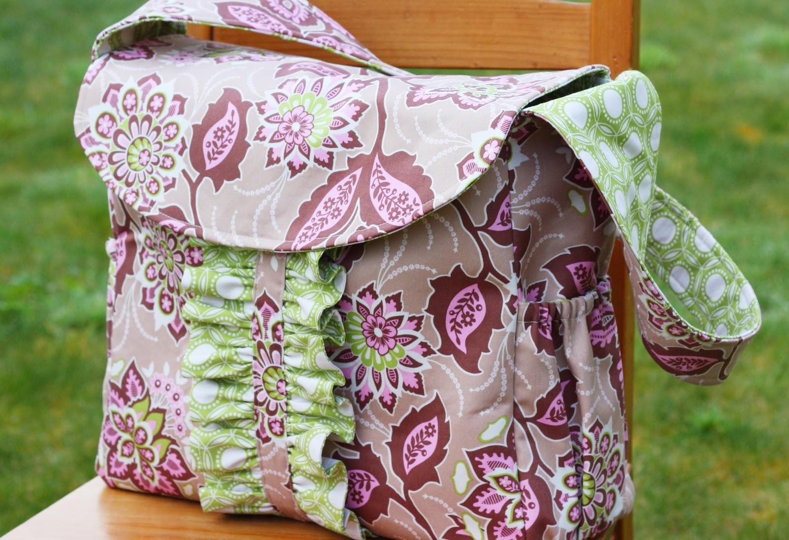 Bag Patterns : Home / Shop / PDF Patterns / Lola Bea Diaper Bag PDF Pattern