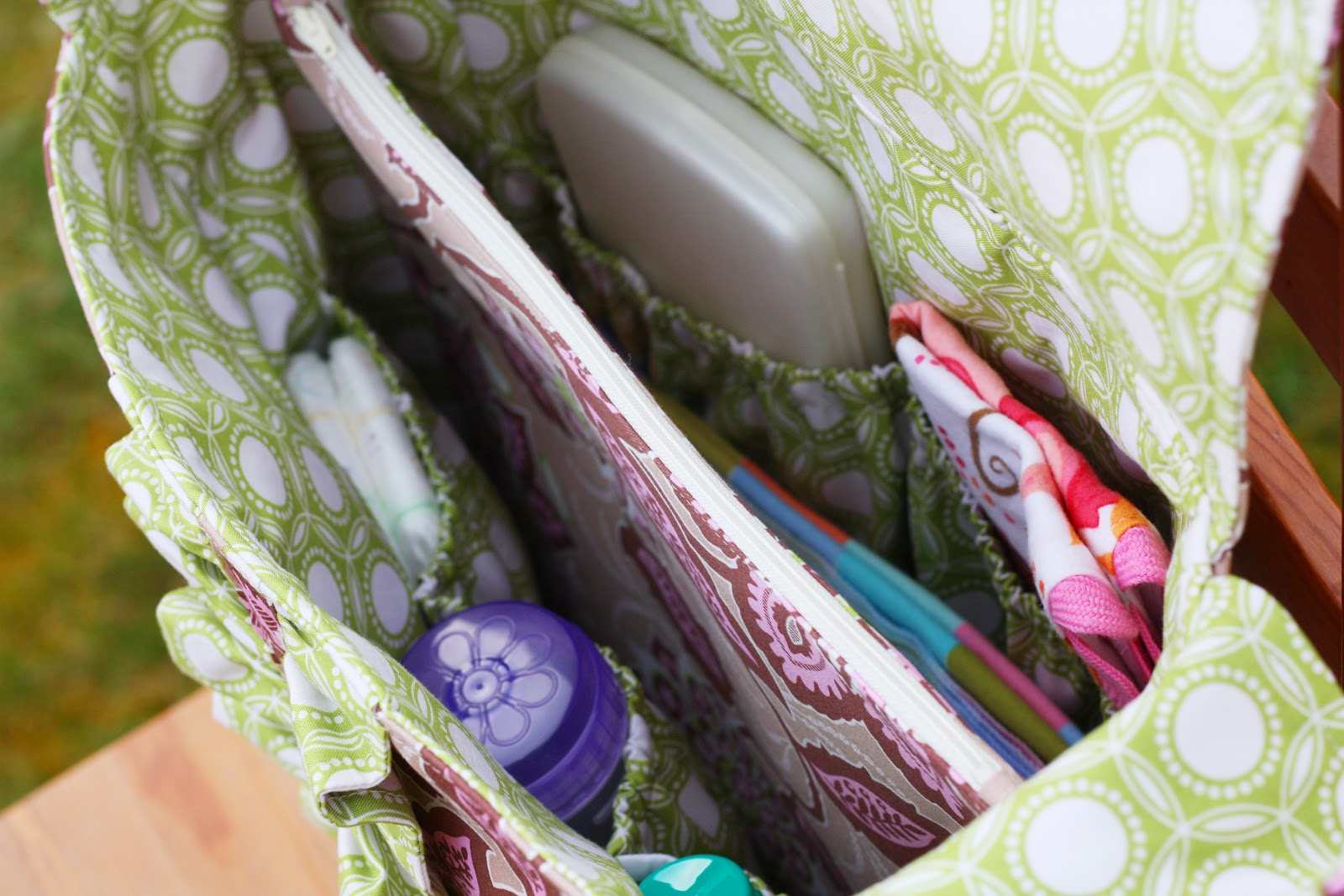 Lola Bea Diaper Bag PDF Pattern - Sew Much Ado