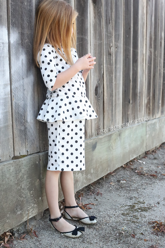 pretty in peplum polka dots -CINO