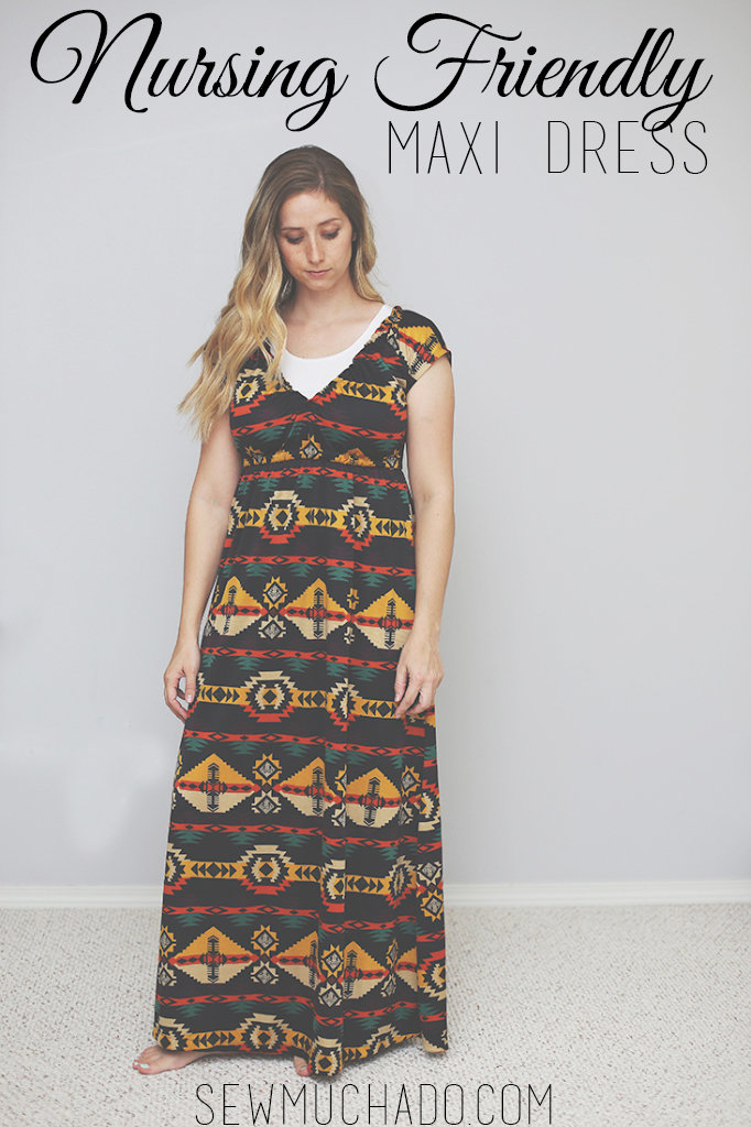 Nursing Friendly Maxi Dress