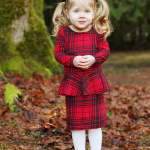 Lola's Pretty in Peplum Plaid Christmas Dress