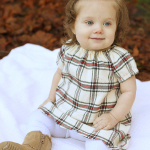 Plaid Polly Peasant Christmas Dress