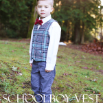 Plaid Flannel Schoolboy Vest