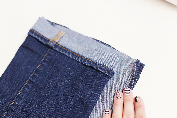 DIY bootcut to skinny jeans