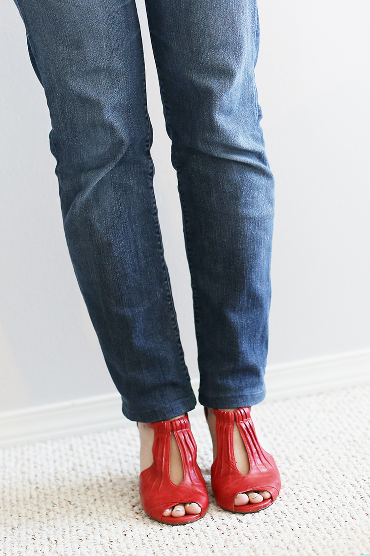 DIY Jean Alteration: From Bootcut to Skinny or Straight! - Sew ...