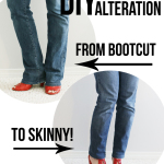 DIY Jean Alteration: From Bootcut to Skinny!