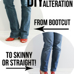 DIY Jean Alteration: From Bootcut to Skinny or Straight!
