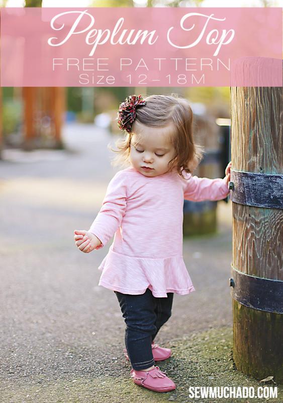 girls free peplum top pattern