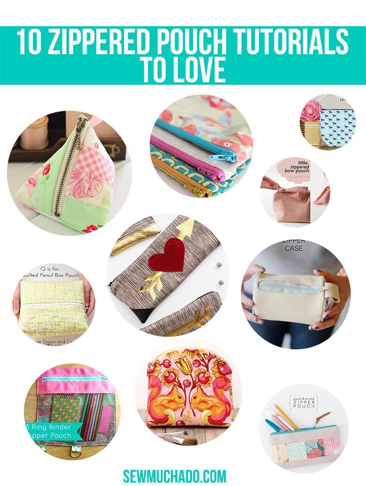 zippered pouch tutorials