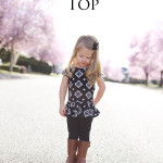 Aztec Pretty in Peplum Top {Riley Blake Knit Love Tour}