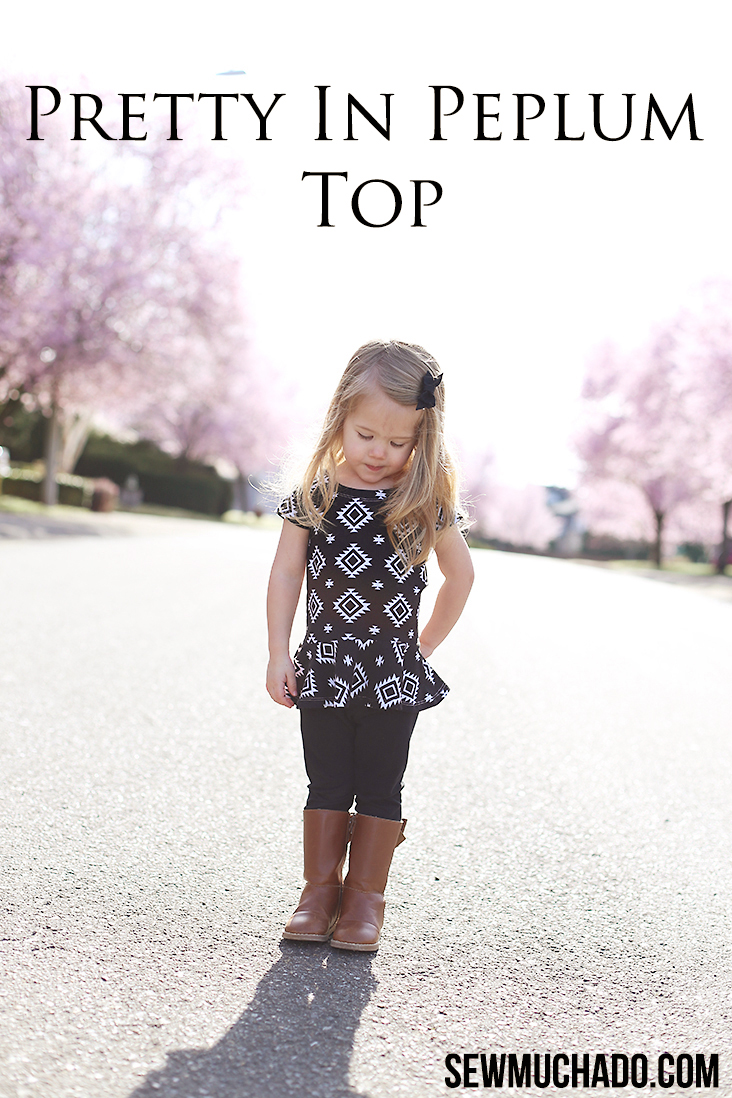 girls peplum top pattern