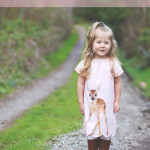 Deer Polly Peasant Dress