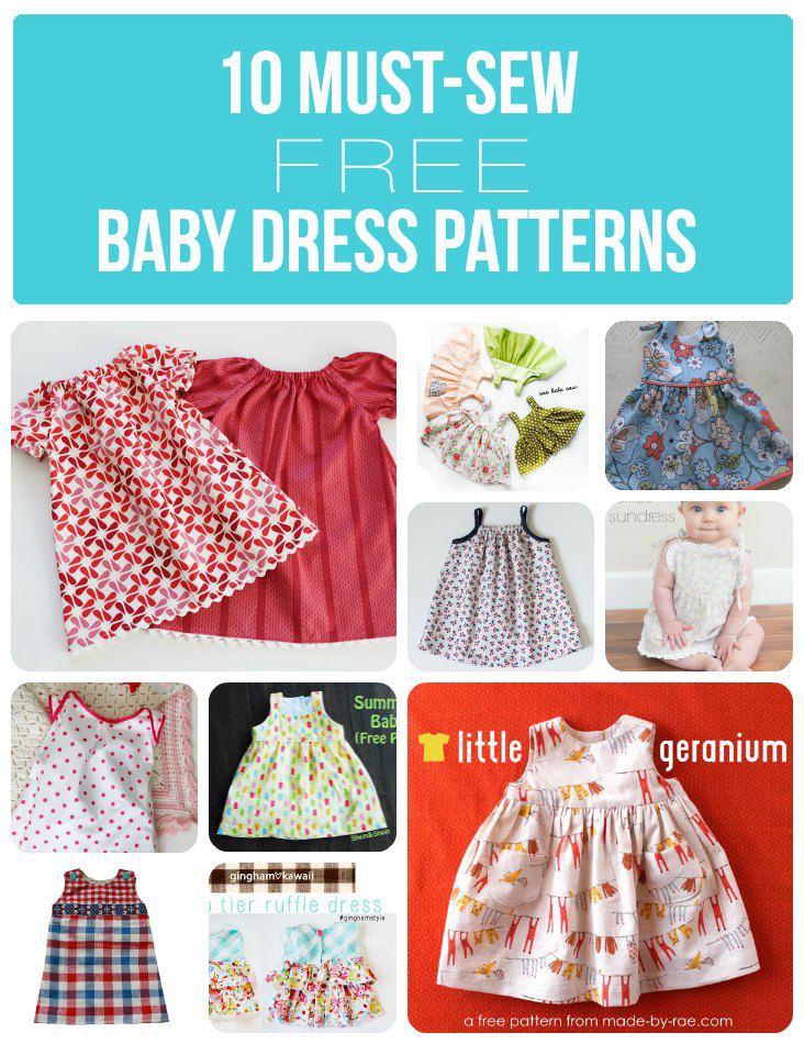 3de5a2c7e 10 Must-Sew Free Baby Dress Patterns - Sew Much Ado