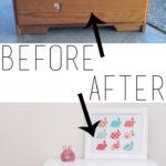 Little White Dresser Makeover