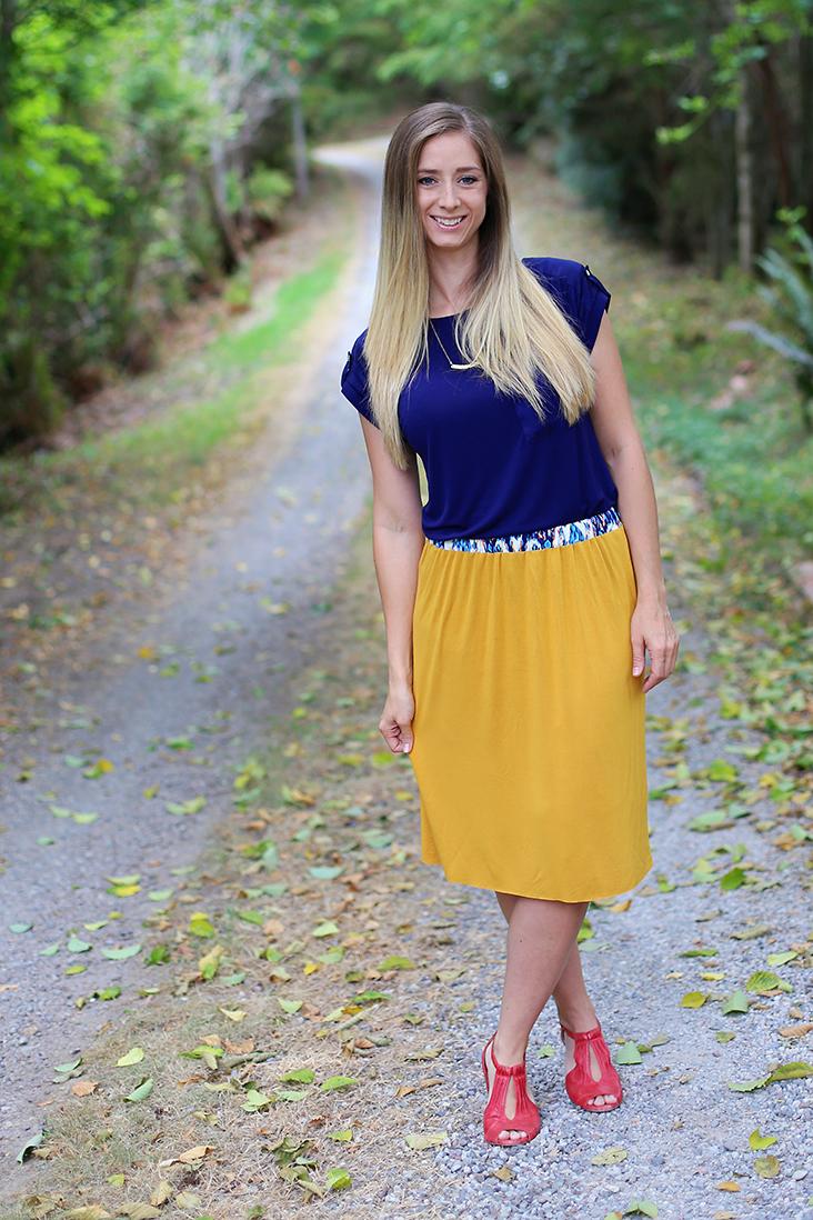 Knit + Woven Skirt Tutorial