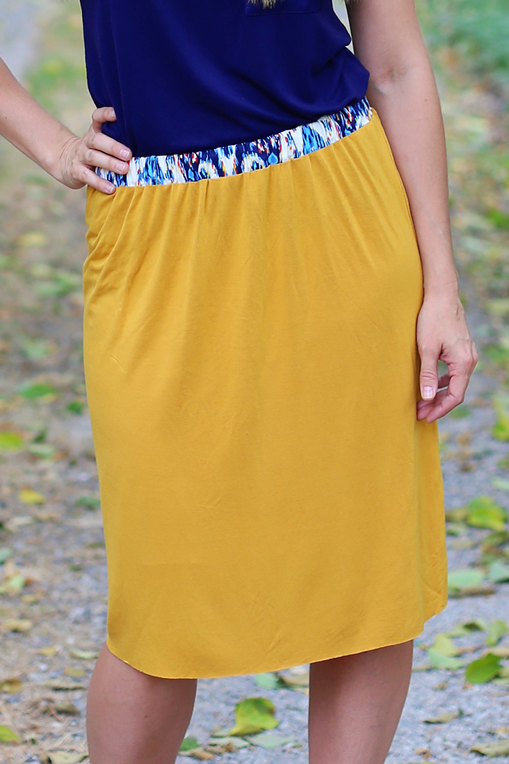Knit + Woven Skirt Tutorial
