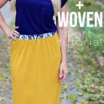 Knit + Woven Skirt Tutorial {Skirting The Issue}