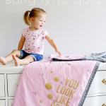 Heat Transfer Vinyl Song Lyric Quilt