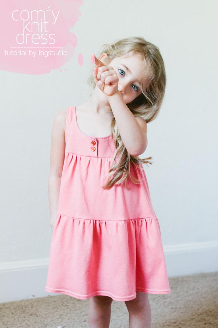 Трикотажное платье своими руками для девочки