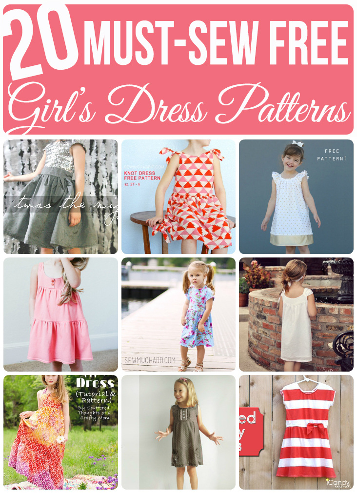 20 Must-Sew FREE Girl\'s Dress Patterns - Sew Much Ado