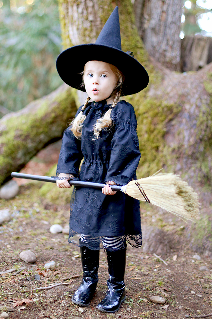 DIY Witch Costume and Free Witch Hat Pattern
