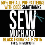 50% Off All PDF Patterns – Black Friday Sale!