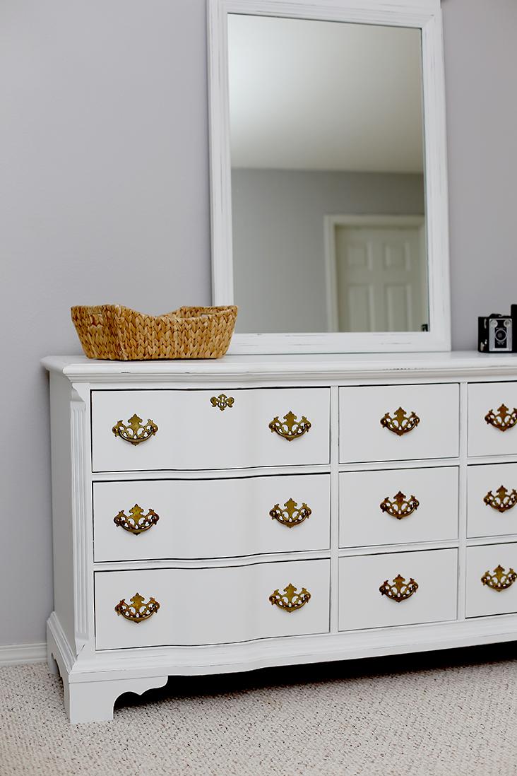 white dresser makeover