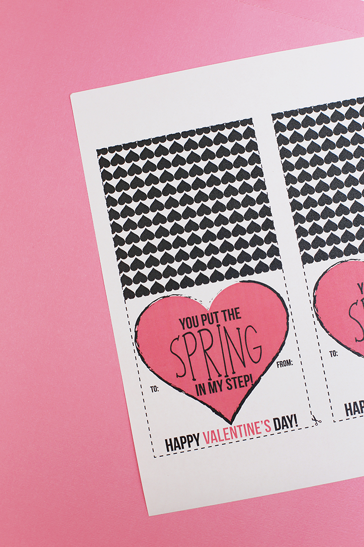 Mini Springs Free Valentine Printable