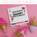 Ice Cream Valentine Free Printable