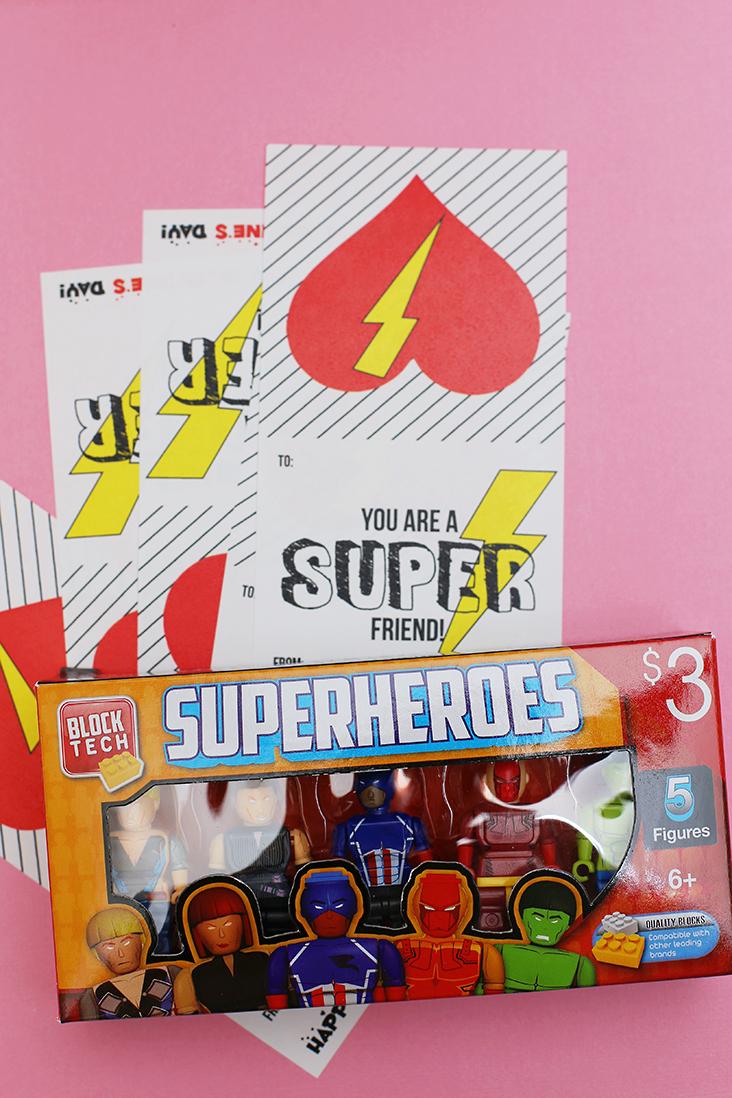 Superhero Valentine Free Printable