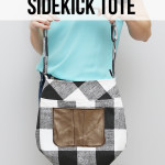 Gingham + Leather Sidekick Tote