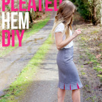 Peekaboo Pleated Hem Tutorial