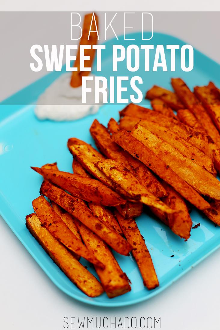 baked sweet potato fries